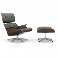 Vitra Eames Lounge Chair and Ottoman - Black Pigmented Walnut