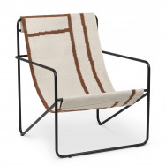 Ferm Living Desert Lounge Chair - Shapes-Black