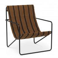 Ferm Living Desert Lounge Chair - Stripes-Black