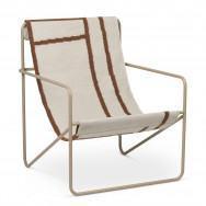 Ferm Living Desert Lounge Chair - Shapes-Cashmere