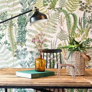 Mind The Gap Sanctuary Floral Wallpaper-Green