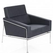 Fritz Hansen Series 3300 Easy Chair, Fabric, Chrome Base