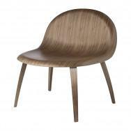 Gubi 3D Lounge Chair - Un-Upholstered - Wood Base