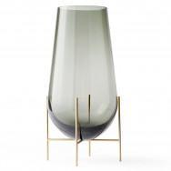 Menu Échasse Vase-Small - Smoke/Brushed Brass