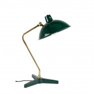 Dutchbone Devi Desk Lamp - Green / Brass