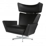 Fritz Hansen Oksen Lounge Chair Aluminium Legs