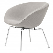 Fritz Hansen Pot Easy Chair, Fabric, Chromed Steel