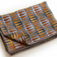 Chalk Wovens Fern Throw - Copper