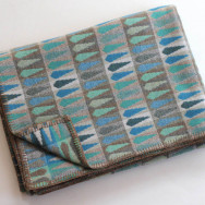Chalk Wovens Fern Throw - Turquoise