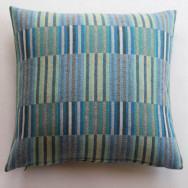 Chalk Wovens Reeds Cushion - Turquoise