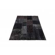 Massimo Rugs 170 x 240 cm Black Vintage Rug - Black - Multi Color