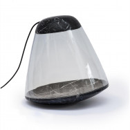 La Chance Apollo Marble Floor Lamp - Black