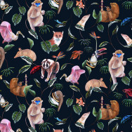 Badgers of Bohemia - Bohemian Palms Wallpaper