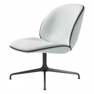 Gubi Beetle Lounge Chair - Fully Upholstered, 4-Star base (Kvadrat Vidar 3-0913)