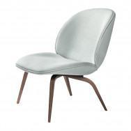 Gubi Beetle Lounge Chair - Fully Upholstered, Wood Base-American Walnut-Kvadrat Vidar-3-0913