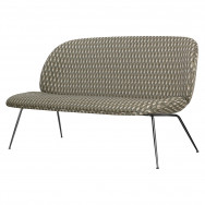 Gubi Beetle Sofa - Fully Upholstered - 2-Seater-Conic Black Chrome Base-JAB Hot Madison CH1249