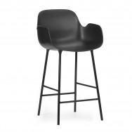 Normann Copenhagen Form Bar Armchair – Steel-Black-65cm