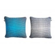 Simon Key Bertman Textile Design & Art -2-Sided Gradient Cushion Cover - Blue/Grey