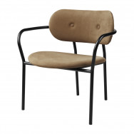 Gubi Coco Lounge Chair With Armrests (GUBI Chamois 1709)