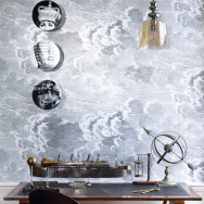 Cole and Son Nuvolette Wallpaper (2 x 10m rolls) - Fornasetti