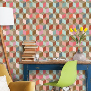 Mind The Gap Coloured Geometry Wallpaper