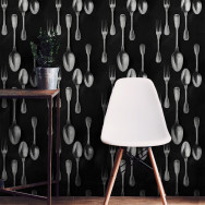 Mind The Gap Silver Cutlery Wallpaper