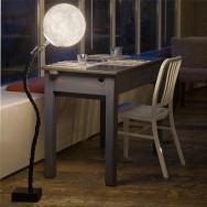 In-es.artdesign Micro Luna Adjustable Floor Lamp - White/Black