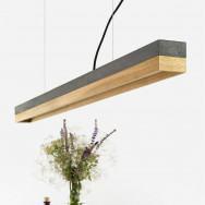GANTlights C Concrete Pendant Light- Oak (Various Sizes)