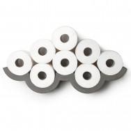 Concrete Cloud Toilet Paper Shelf - Small