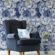 Mind The Gap Delftware Plates Wallpaper