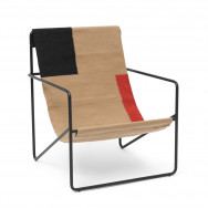 Ferm Living Desert Lounge Chair - Block-Black