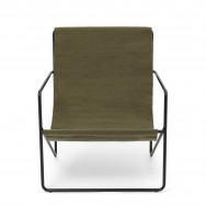 Ferm Living Desert Lounge Chair - Olive-Black