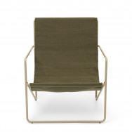 Ferm Living Desert Lounge Chair - Olive-Cashmere