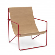 Ferm Living Desert Lounge Chair - Red Frame