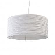 Graypants White Drum Pendant Light 18 inch