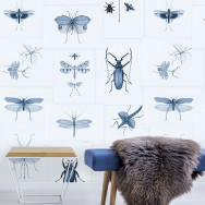 Mind The Gap Entomology Wallpaper - Blue