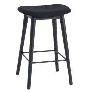 Muuto Fiber Upholstered Wood Base Bar Stool - 65cm
