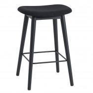 Muuto Fiber Upholstered Wood Base Bar Stool - 65cm