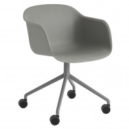 Muuto Fiber Armchair - Swivel Base With Wheels