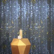 Feathr Feathr Firefly Wallpaper by Yuexin Du-Blue (1 roll from a batch)