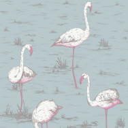Cole and Son Flamingos Fabric - Linen Union