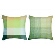 Simon Key Bertman Textile Design & Art - Gradient and Squares Cushion Cover - Large Green