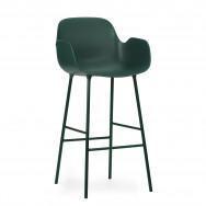 Normann Copenhagen Form Bar Armchair – Steel-Green-65cm