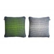 Simon Key Bertman Textile Design & Art -2-Sided Gradient Cushion Cover - Green/Grey
