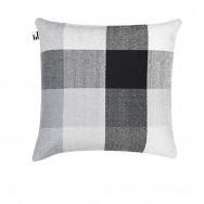 Simon Key Bertman Textile Design & Art - Gradient and Squares Cushion Cover - Large Grey