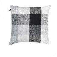 Simon Key Bertman Textile Design & Art - Gradient and Squares Cushion Cover - Grey