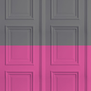 Mineheart Colourblock Panelling Wallpaper - Grey / Rose