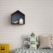Ferm Living Grid Wallpaper - Black/White