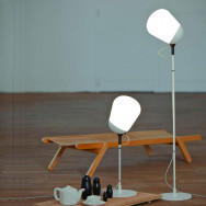 Vertigo Bird Hippo Floor Lamp - White