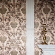 Cole and Son Hollywood Palm Wallpaper - Lawrence Bullard